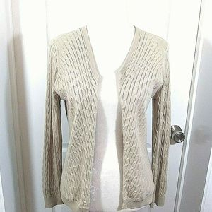 Ann Taylor Factory Open Front Cardigan Sweater